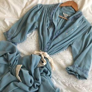 Vintage CHRISTIAN DIOR 100% SILK Lingerie Robe